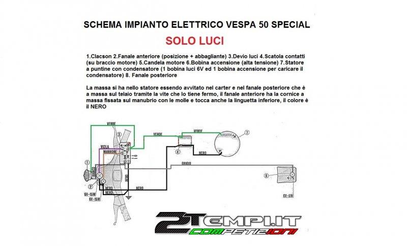 Schema Elettrico Vespa 50 Special : Schema accensione picswe